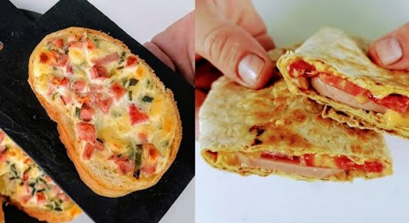 Просто візьміть ЛАВАШ, БАТОН і ЯЙЦЯ! Два швидких рецепта на сніданок!