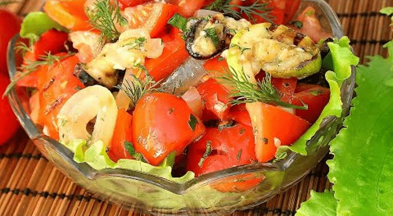 Салат з овочів гриль. Смачно і корисно