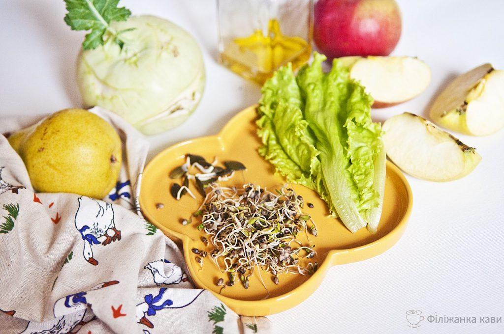 Яблуневий Спас: зелений салат з яблуком - рецепт